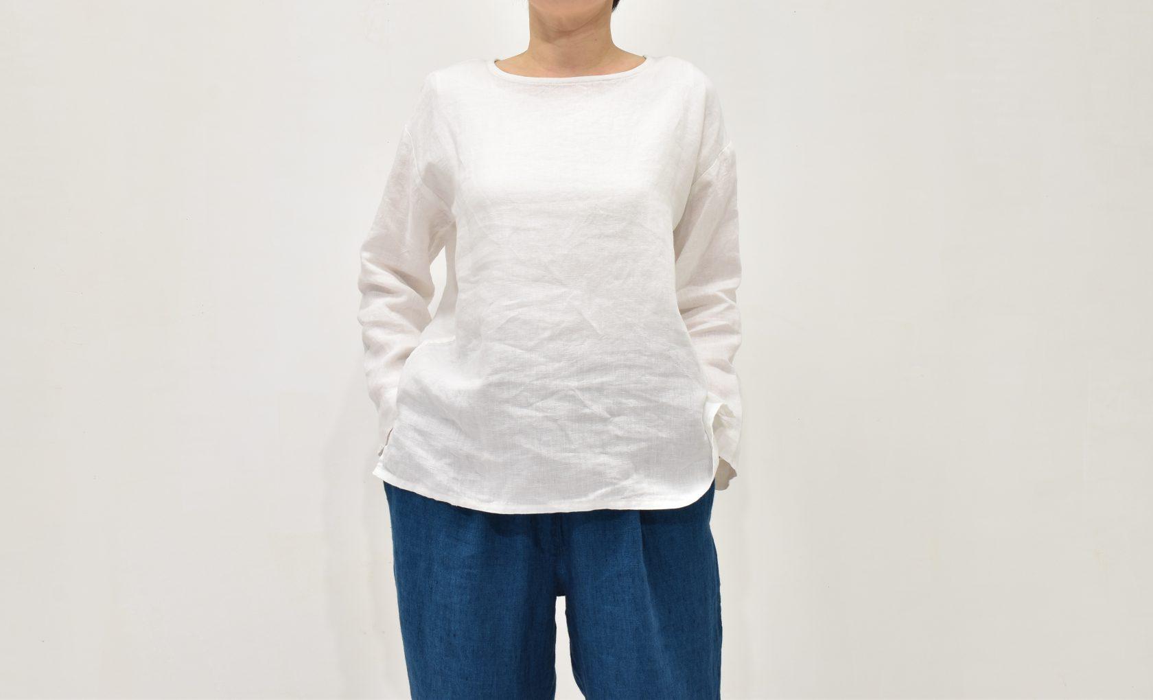 ファブリックスのヨーロッパリネンクルーネックシャツ